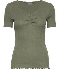 bysilla blouse - t-shirts & tops short-sleeved grön b.young