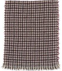 fay scarf fay scarf with macro pied de poule