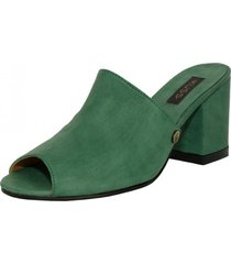 sandalia cuero simone verde kuss