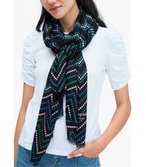 kate spade new york chevron dot oblong scarf