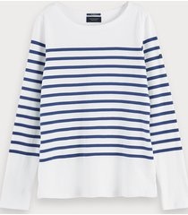 scotch & soda bretons t-shirt met lange mouwen van 100% katoen