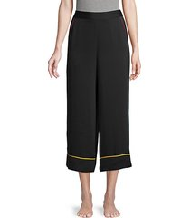 high-waist pajama pants
