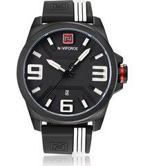 reloj cuarzo militar 3d dial lujo naviforce correa silicona