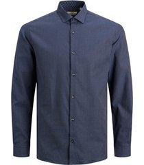 overhemd lange mouw jack & jones 12180159 jprblaoccasion l/s navy blazer/slim fit