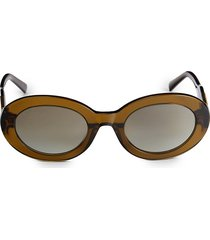 tod's women's 53mm oval sunglasses - brown