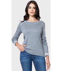 sweater nautica gris - calce regular