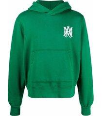 amiri logo-embroidered hoodie