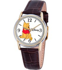 disney winnie men's cardiff silver and gold alloy watch