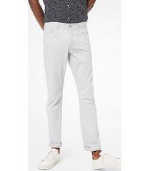 mk pantalone slim-fit parker in twill stretch - grigio perla (grigio) - michael kors