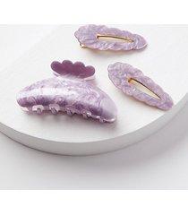 loft resin claw hair clip set