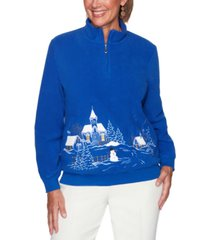 alfred dunner petite soft scenic pullover
