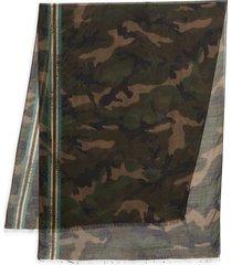 valentino garavani men's camo & striped scarf - camo army