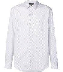 emporio armani micro-patterned shirt - white