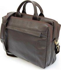 pasta maleta executiva para notebook em couro - cafe - cafã© - masculino - dafiti