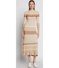 proenza schouler zig zag stripe knit dress sandmulti/yellow l