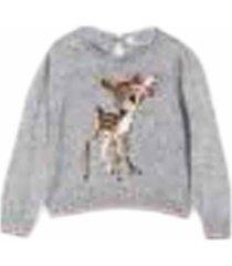 monnalisa embroidery sweater