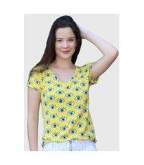 camiseta vibration amarelo d bell