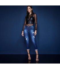 calã§a altoplano cropped jeans azul1 - jeans - feminino - dafiti