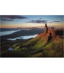"jean claude castor scotland old man of storr canvas art - 37"" x 49"""