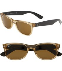 ray-ban small new wayfarer 52mm sunglasses - red