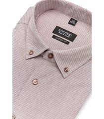 koszula versone 2427 długi rękaw custom fit brąz