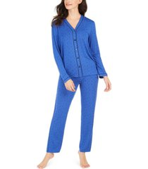 alfani contrast seam pajama set, created for macy's