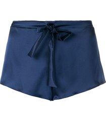 gilda & pearl sophia drawstring shorts - blue