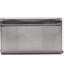 kurt geiger london women's kensington chain wallet - gunmetal