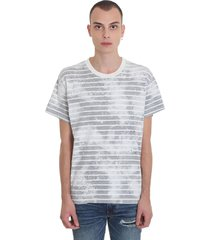 amiri bleached shotgu t-shirt in grey cotton