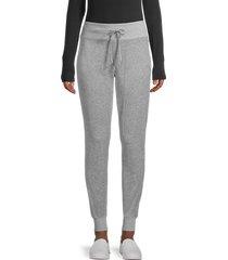 calvin klein women's velour cotton-blend jogger pants - heather granite - size m