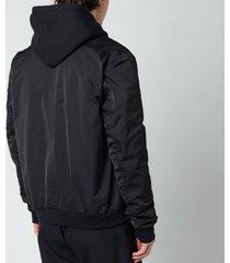 mackage men's ragnar-r bomber jacket - black - xl