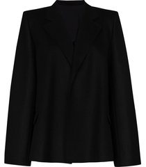 totême bounce single-breasted cape blazer - black