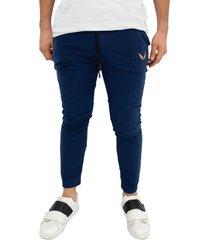 sudadera jogging azul oscura manpotsherd