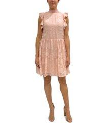 sam edelman floral-burnout shift dress