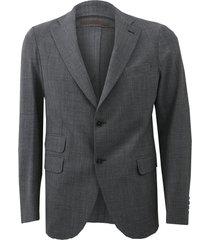 grey notch lapel jacket