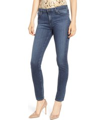 women's ag 'the prima' mid rise cigarette skinny jeans, size 25 - blue
