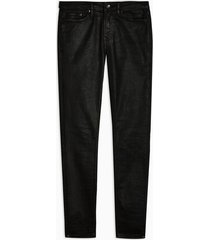 mens black coated spray on jeans
