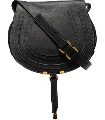 chloé medium marcie saddle bag - black