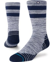 women's stance camper crew socks, size small - blue