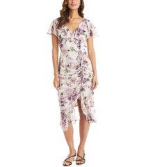 r & m richards floral-print dress