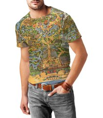 disneyland vintage map mens cotton blend t-shirt