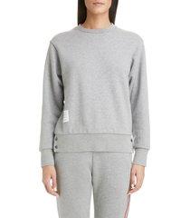 women's thom browne stripe back sweater, size 4 us / 40 it - grey