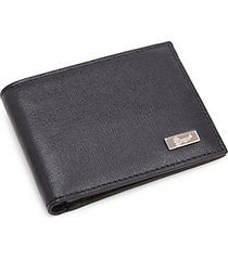 rfid bi-fold leather wallet