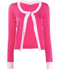 emilio pucci single button knitted cardigan - pink