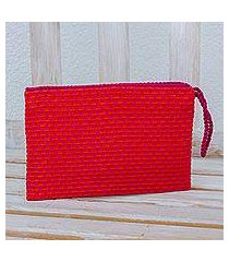 cotton wristlet, 'dragon fruit' (guatemala)