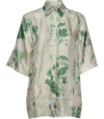 leros x blouses short-sleeved groen tiger of sweden