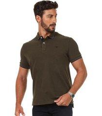 camisa polo docthos mm piquet masculina