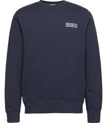 hugh info sweatshirt sweat-shirt trui blauw wood wood