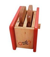 torradeira de madeira - o que é o que é - mundo cereja vermelho