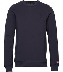 brutus ams blauw colab sweat with detachable bandana sweat-shirt trui blauw scotch & soda
